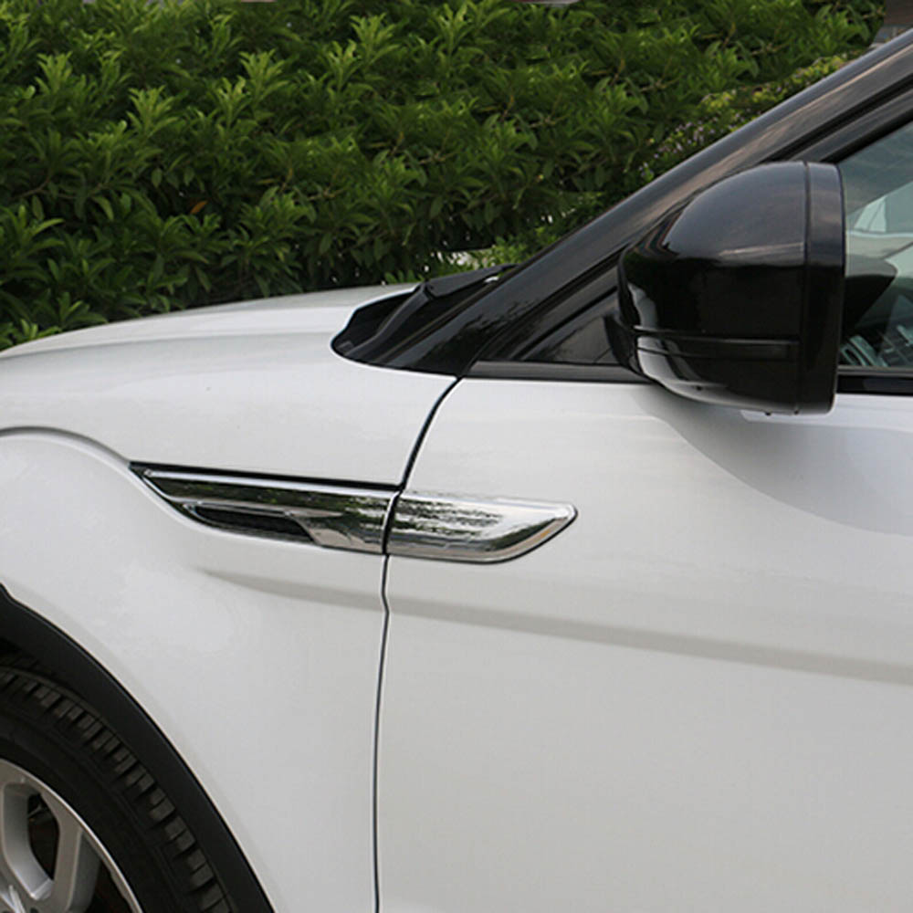 Accesorios exteriores para range rover evoque side egde fender Shark gill grille vent intake decorativo frame cover sticker trim