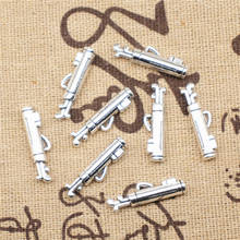 Supplies For Jewelry 6x23mm Golf Bucket Charms Antique Silver Color 10pcs