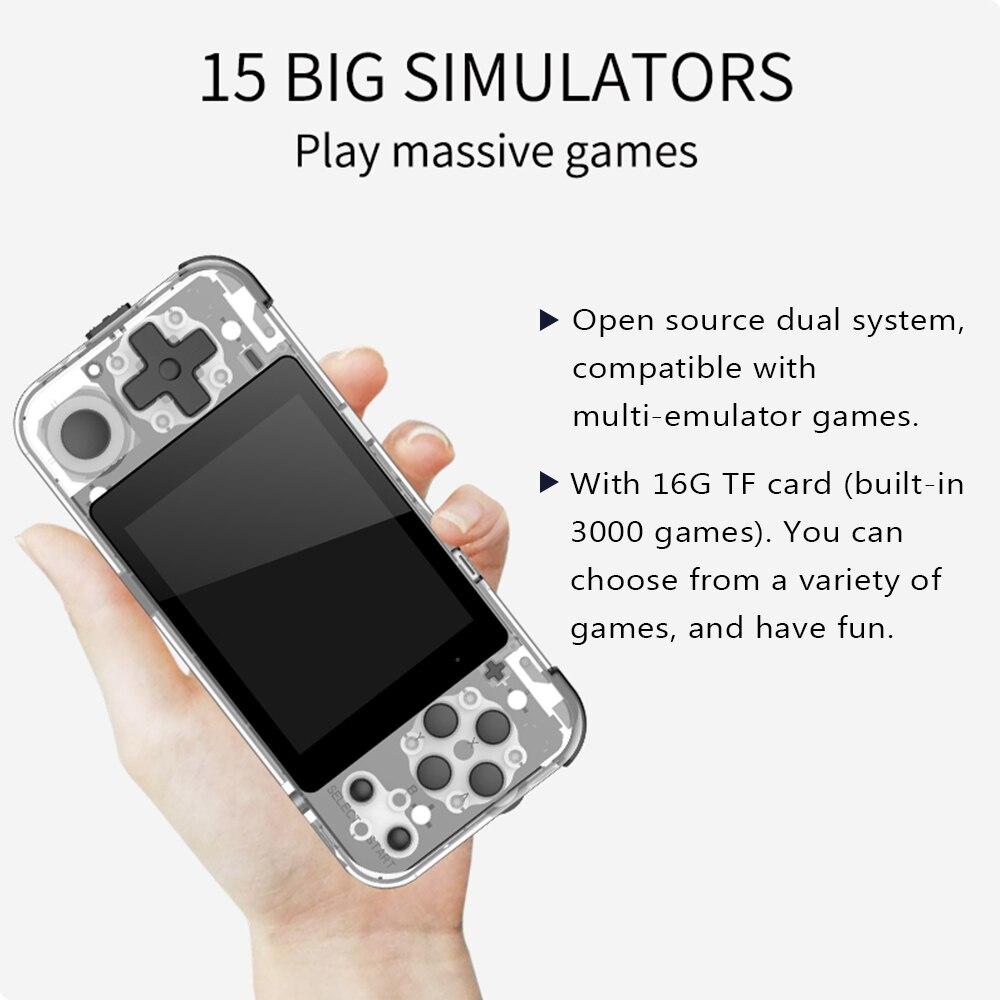 Consola de juegos portátil Q90 joystick, consola de videojuegos Retro, Mando de juegos, pantalla de 3,0 pulgadas con tarjeta TF de 16GB