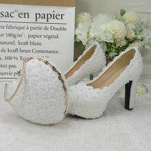 BaoYaFang blanc bleu Royal fleur mariage chaussures et sacs ensembles dames plate-forme chaussures femme chaussures à talons hauts talon épais coeur sac à main