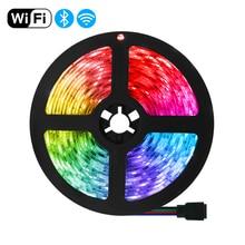 Waterproof LED Strip Lights DC12V5M10M15M Remote Control Lighting WiFi  Bluetooth Luces LED RGB5050