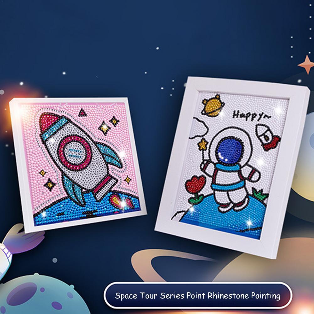 Алмазная живопись по номерам, наборы для детей, ракета космический человек, Кристалл Стразы, алмазная вышивка, картины, картины, искусство, р...