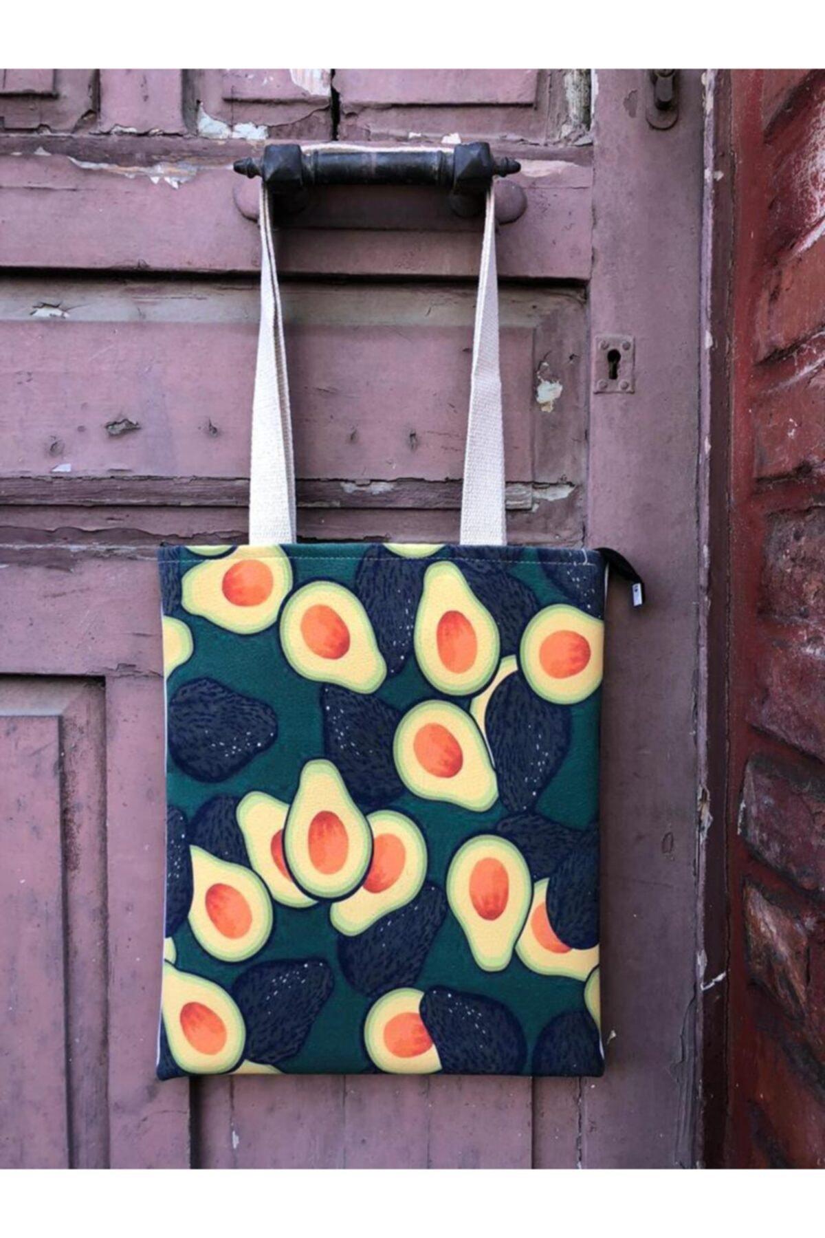 2021 New Fashion Avocado Design Printed Saddlebag - Shoulder Bag Quality Printing Lined With Inner Pocket Water Resistant