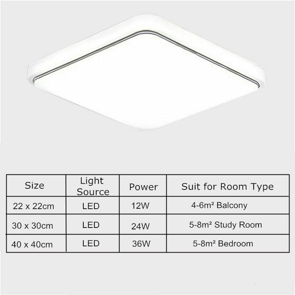 LED Ceiling Down Light Square Cover Modern Design for Bedroom Kitchen Living Room TUE88