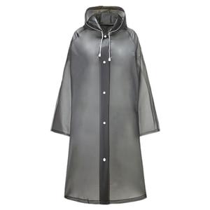 2 Pieces of EVA One-Piece Raincoat Men's and Women's Long Transparent Raincoat Waterproof Anti-Saliva Spray Poncho