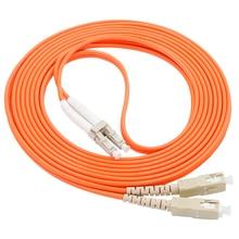 LC/UPC-SC/UPC fibre optique cordDuplex Multimode câble LC-SC fibre optique cavalier