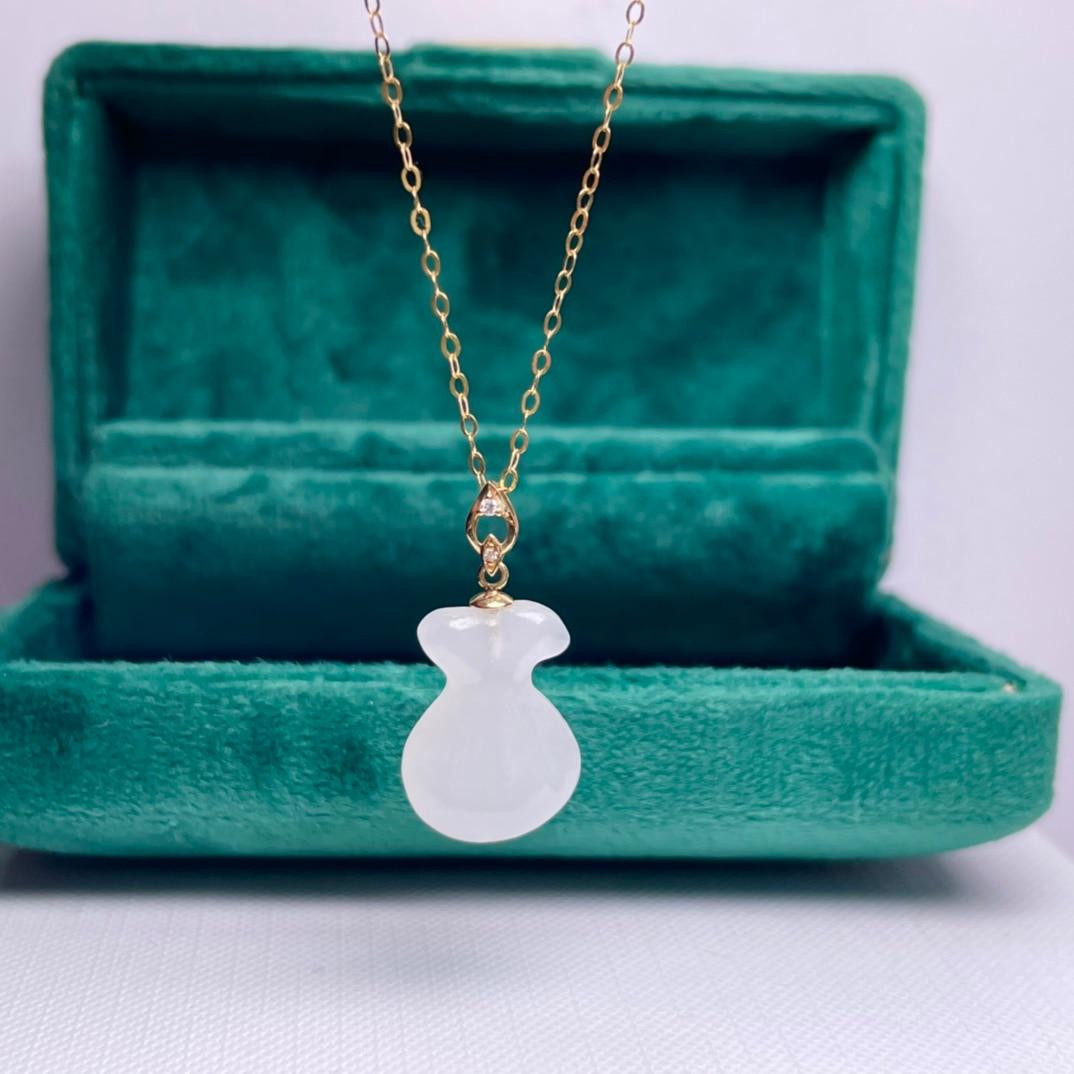 SHILOVEM 18k الذهب الأصفر الطبيعي الأبيض جاسبر المعلقات هدية غرامة مجوهرات مصنع الزفاف لا قلادة 12*16 مللي متر mymz12165521hby
