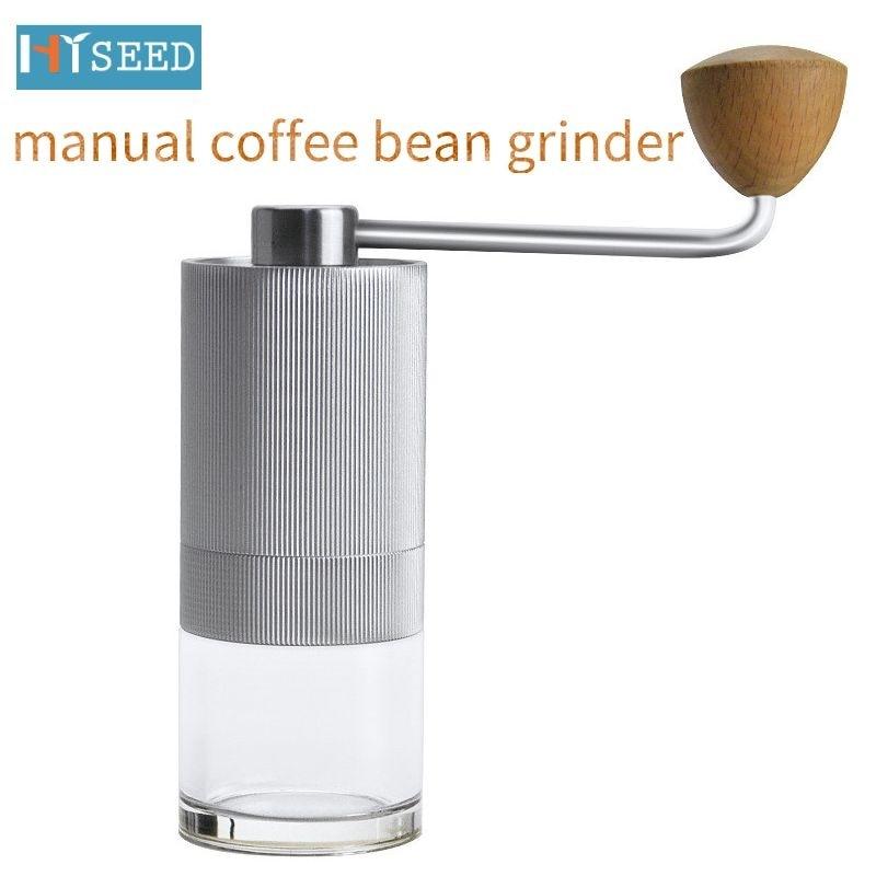 اليد طاحونة القهوة دليل طحن و سحق البسيطة مريحة الفولاذ المقاوم للصدأ المنزلية جدا غرامة صغيرة مسحوق تلقي كوب
