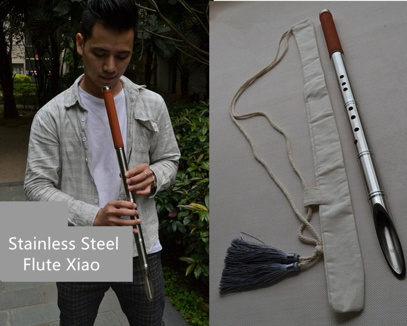Chinese Xiao Multi-function Music instrument stainless steel Flute Xiao Bamboo car broken glass/self-defense/Outdoor escape tool enlarge