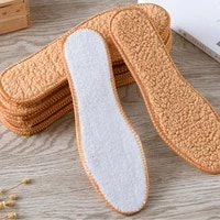 natural sheepskin insoles winter real fur wool insoles men women warm soft thicken plush cashmere snow boots insoles thermal hot