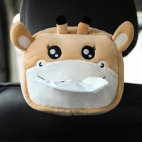 hanging tissue box vivid cartoon pattern decoration animal shape tissue container for car