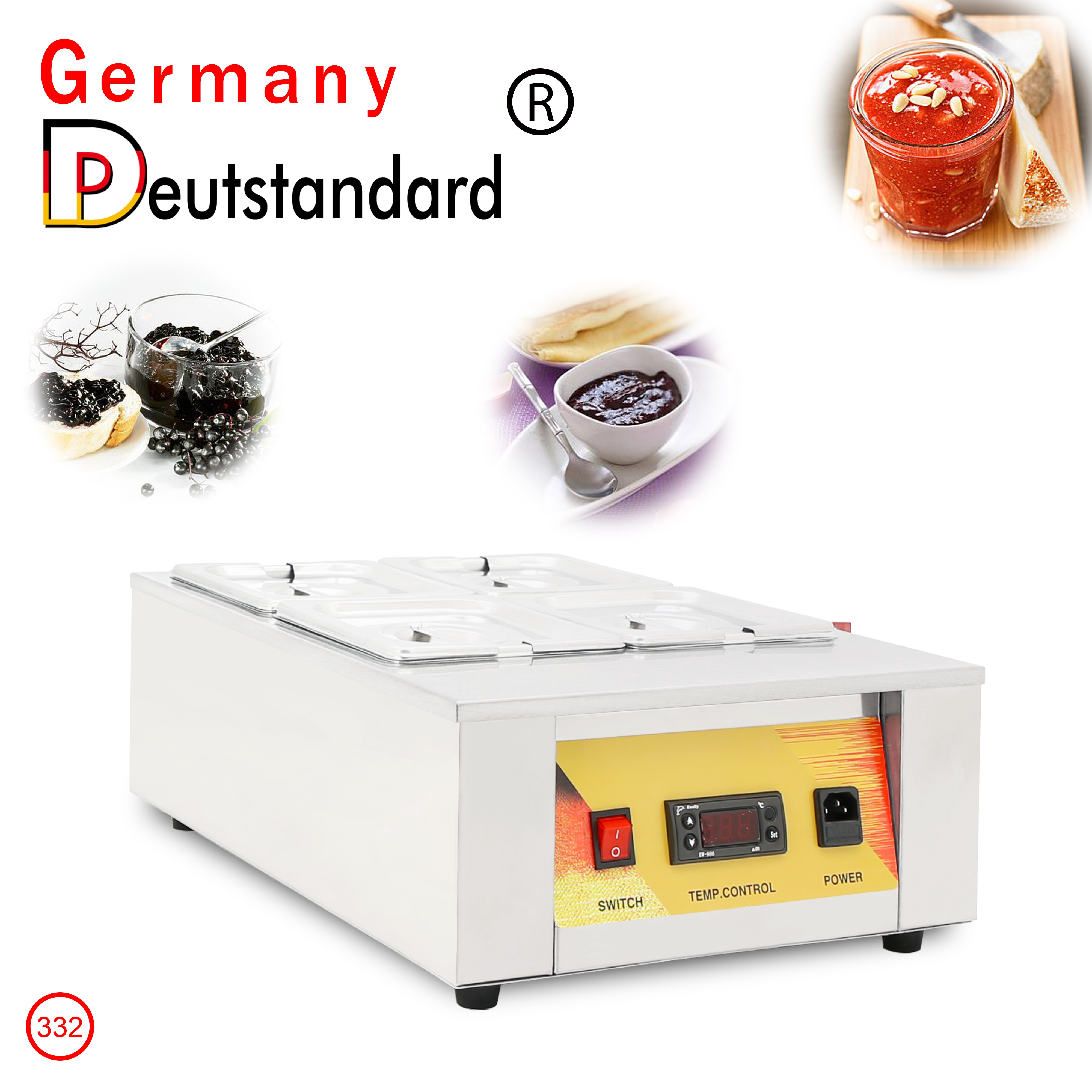Commercial Electric Chocolate Melting Machine Sauce Warming Machine Chocolate Melter With 4 Tanks Restaurant Food Warmer With CE
