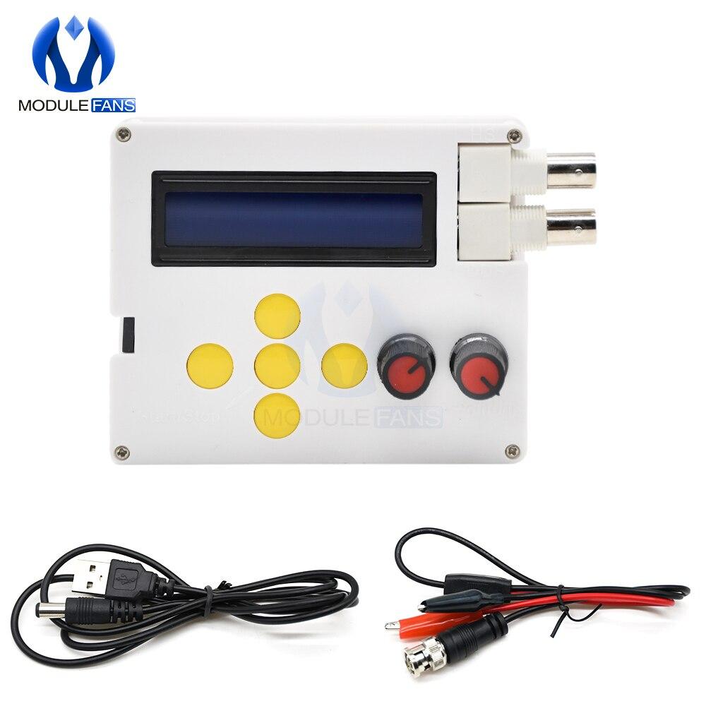 1hz-500khz dds função gerador de sinal dc 4v-10v seno quadrado triângulo swatoth gerador de pulso teclado 1602 display lcd