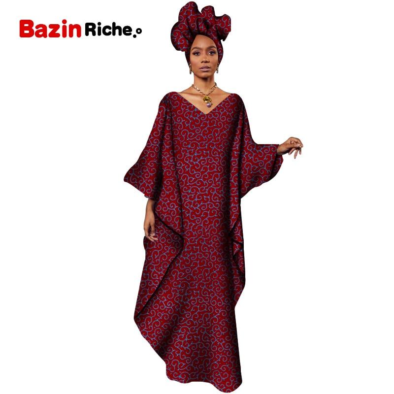 Robes africaines pour femmes 2020 afrique vêtements musulman longue robe de haute qualité longueur mode africaine robe ample pour dame WY5120
