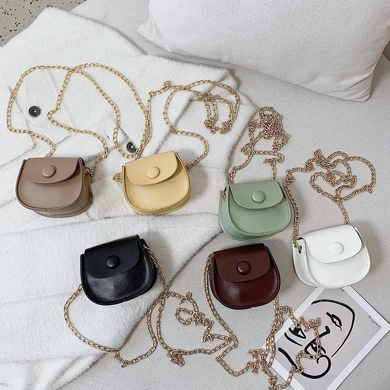 Fashion Kids Children PU Leather Shoulder Bag Lovely Baby Girls Mini Chain Coin Purse Cute Princess Crossbody Bags Small Wallet girls coin purse children one shoulder bags coin pouch bags kids pu fashion small bags new bag purse kids