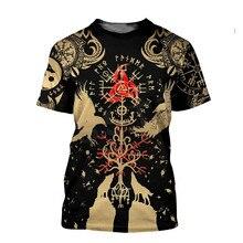 Tessffel NewFashion Vikings Symbol Tattoo Viking Warriors Harajuku Unisex 3DPrint Short Sleeve Streetwear T-shirts Men Women A-3
