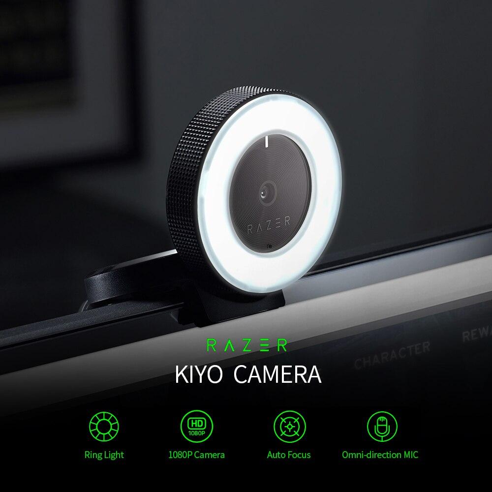 Webcam com Multi-passo Lâmpada para Tik Streaming ao Vivo Razer Kiyo Desktop Streaming Câmera Anel Luz Tok Preto 1080p