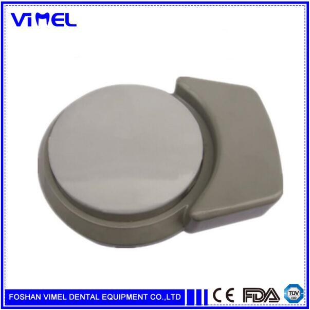 Pedal de Control de pie Dental redondo para unidad estándar 2 orificios 1 pieza pedales de orificio Unidad Dental pieza de repuesto