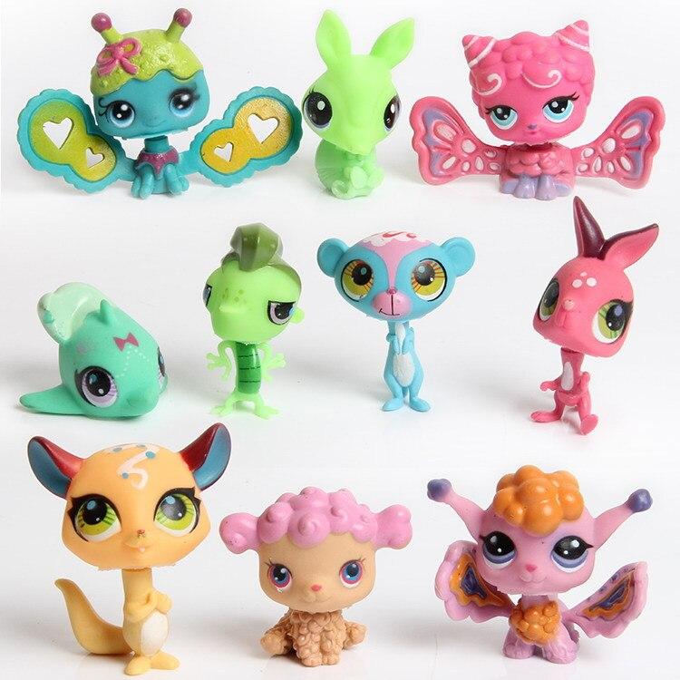 5 unids/set 5cm lindo LOL muñeca compañero mascotas jardín figuras de juguete muñeca para los niños animales juguetes Set