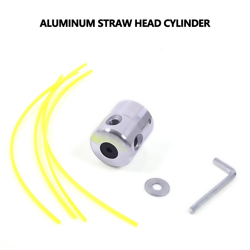 Cabezal de corte de hierba de aluminio con 4 líneas, cabeza cortadora de cepillo, accesorios para cortacésped, reemplazo de cortacésped