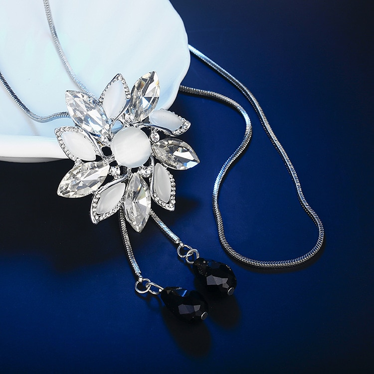 Lujo gran cristal Collar COLGANTE con girasol para las mujeres 2019 moda...