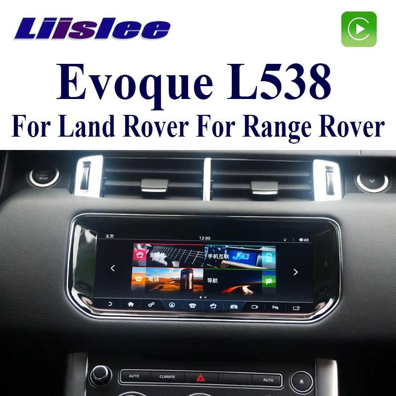 Radio Estéreo LiisLee con GPS y Audio Multimedia para el coche, Radio Hi-Fi para Land Rover, para Range Rover Evoque L538 2011 ~ 2019, navegación de CarPlay NAVI