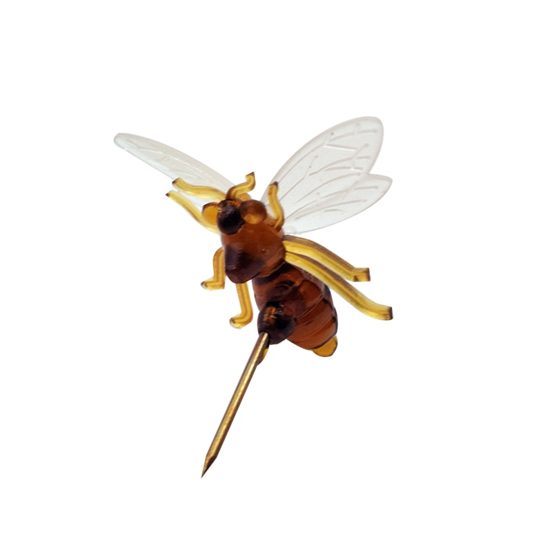 50PCS Honey Bee Stick Pin for Candles Beeswax Candle Kit Bee Pin Plastic Bee with Pin Bee Push Pins недорого