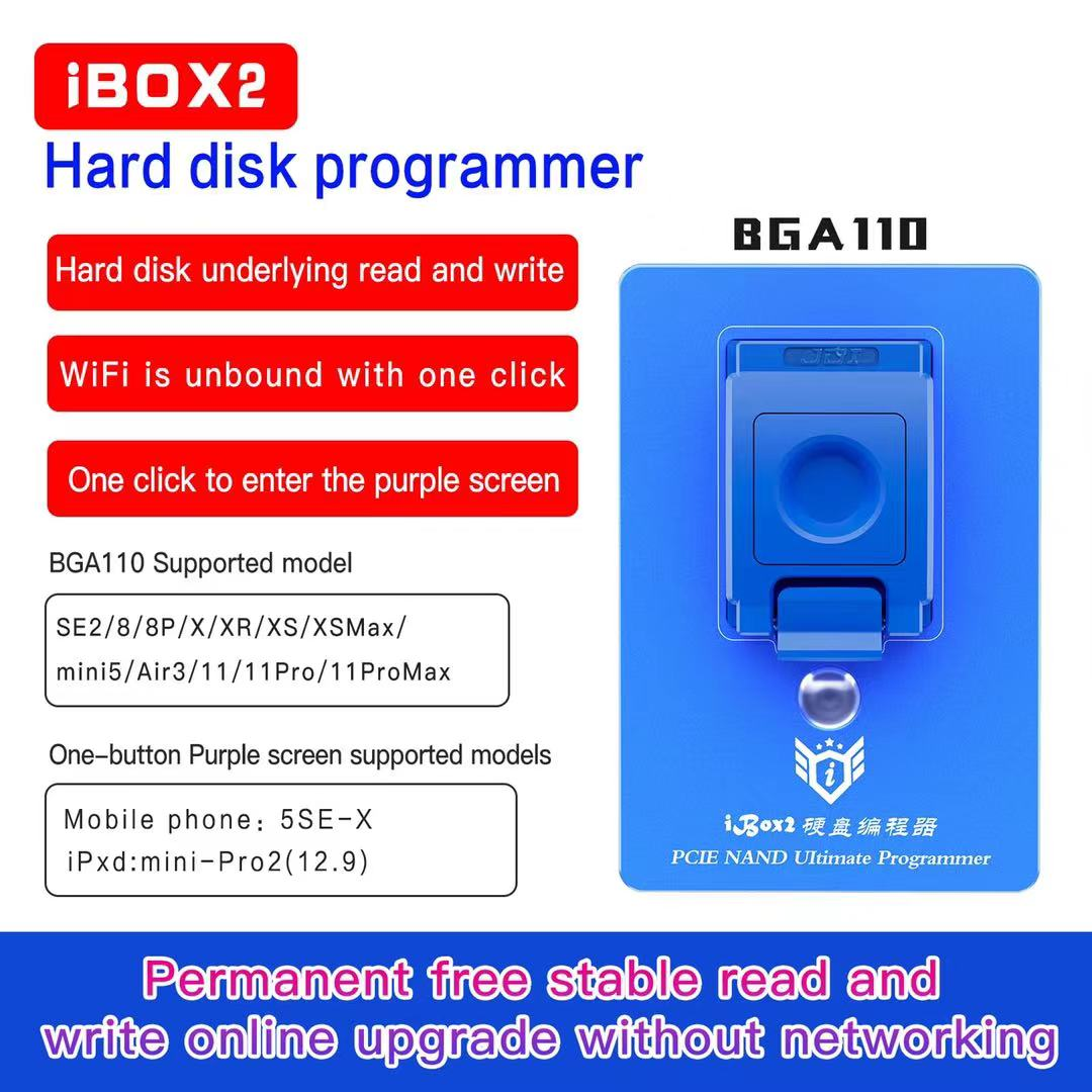Ibox 2 Pcie Nand Hard Disk Programmer Terminator Support Models5se/pcie/nand 110hard-x/mini -pro2 12.9 No Internet Required