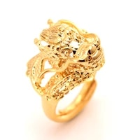 big size punk rock eagle mens ring luxury gold color resizeable dragon women ring men jewelry boys gifts