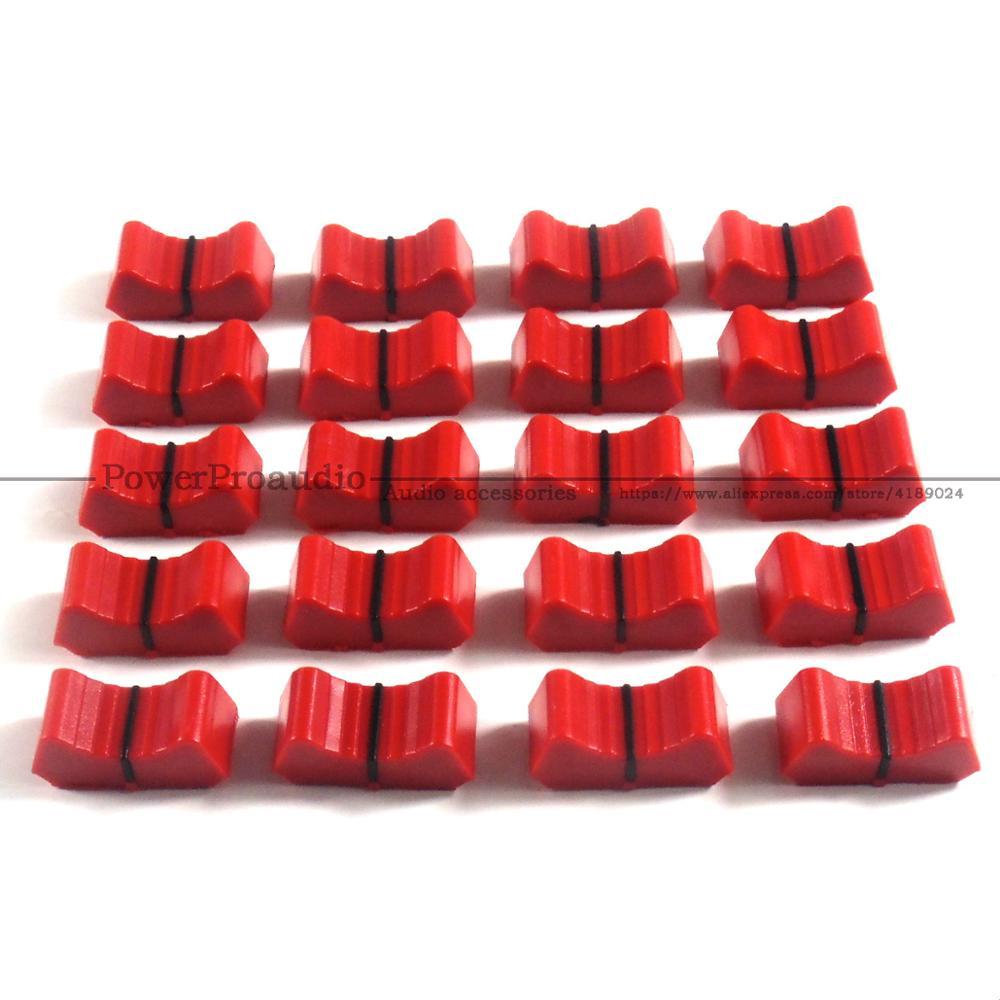 20 piezas mezclador fader Slider Fader perillas reemplazar para ALLEN & heat...