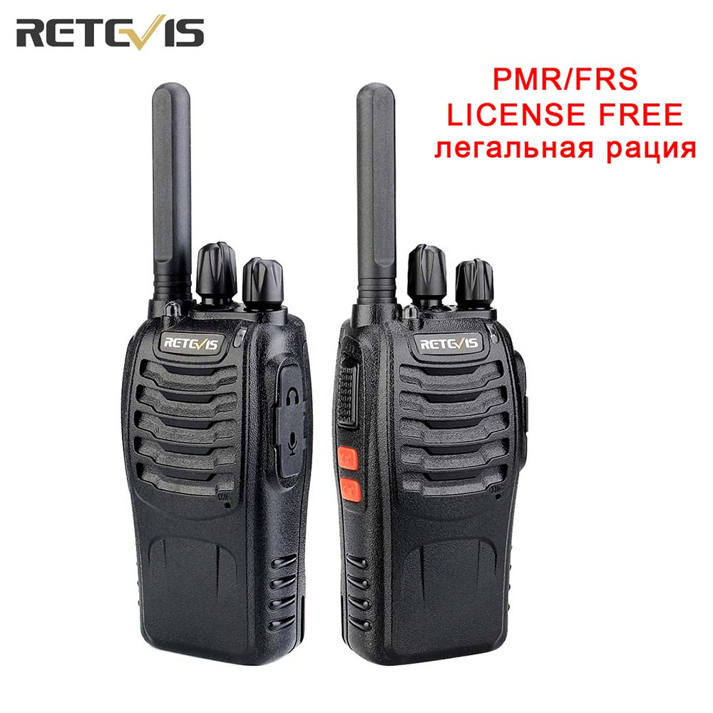 Walkie talkie Retevis H777 Plus PMR 446 Walkie-Talkies 1 or 2 pcs Handy Two-Way Radio FRS PTT Radio For Hunting Hotel Restaurant