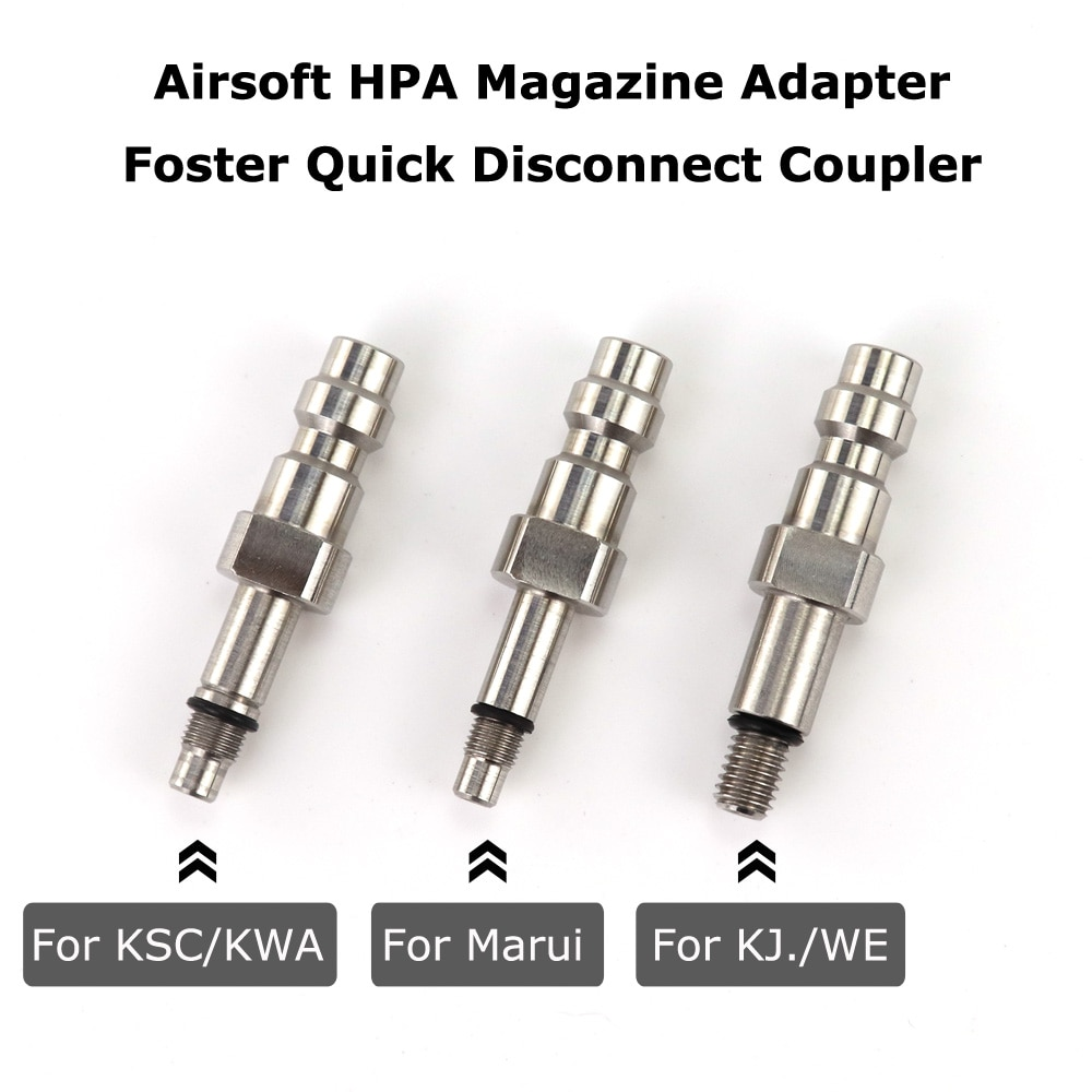 New Airsoft HPA Magazine Adapter Foster Quick Disconnect Coupler