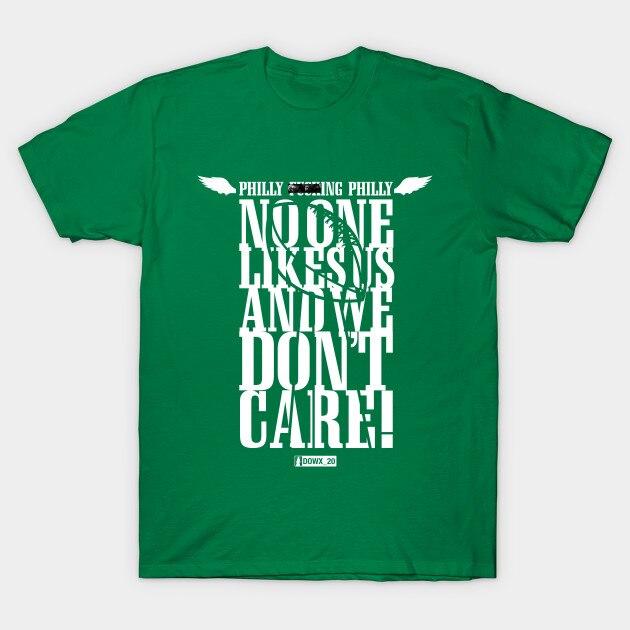 Camiseta de hombre Philly F ng Philly a nadie le gustamos y No nos importa Camiseta verde de las mujeres camiseta