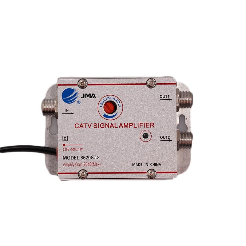 2 طريقة 1 في 2 خارج CATV كابل التلفزيون هوائيات مكبر صوت أحادي أمبير هوائي إشارة الداعم الخائن المنزل التلفزيون المعدات 45Mhz إلى 860MHz