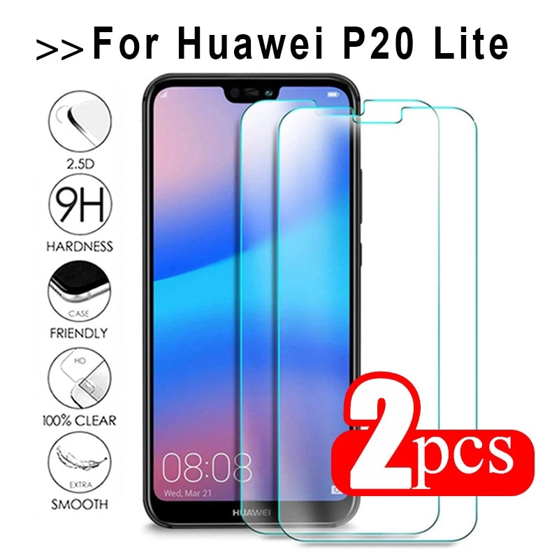 2pcs Tempered Glass For Huawei P20 Lite Glass For Huawe Nova 3E ANE-LX1 LX2 ANE-TL00 ANE-LX2J AL00 Screen Protector Safety Film фото