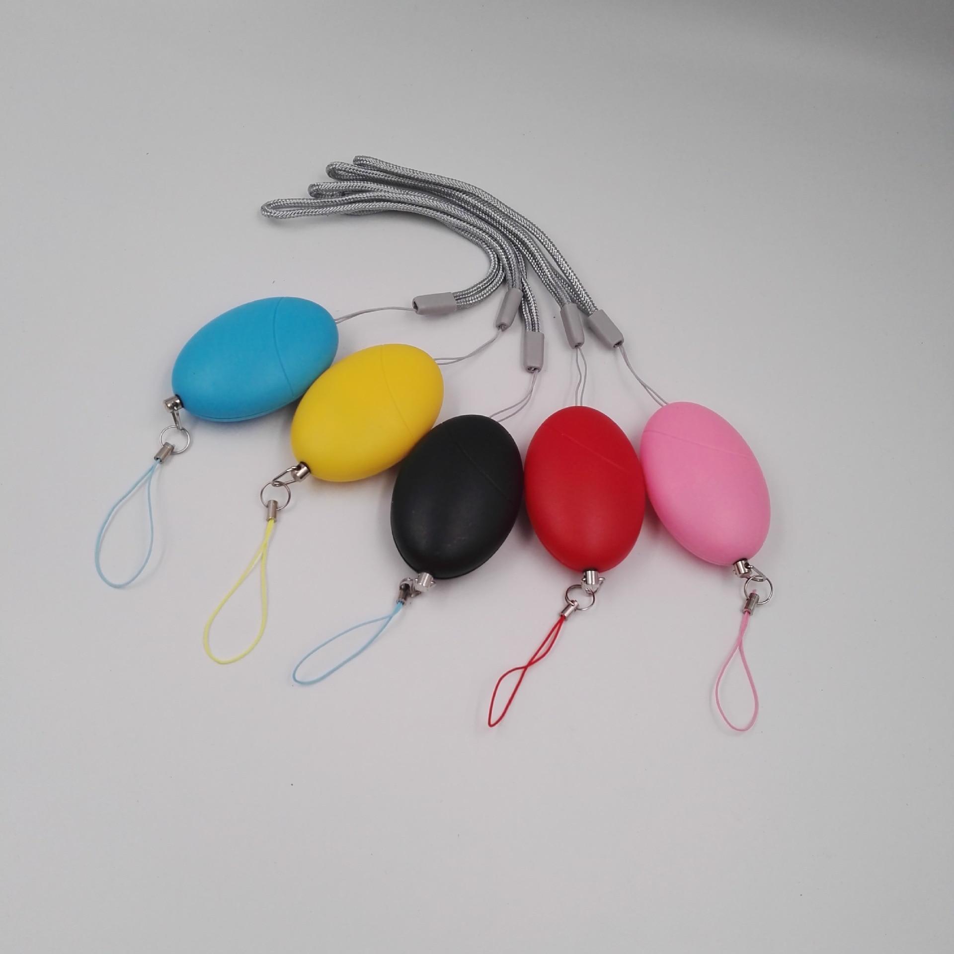 Alarma de autodefensa Exyns 120dB con forma de huevo, alarma de sirena de emergencia portátil de seguridad Personal antiviolación