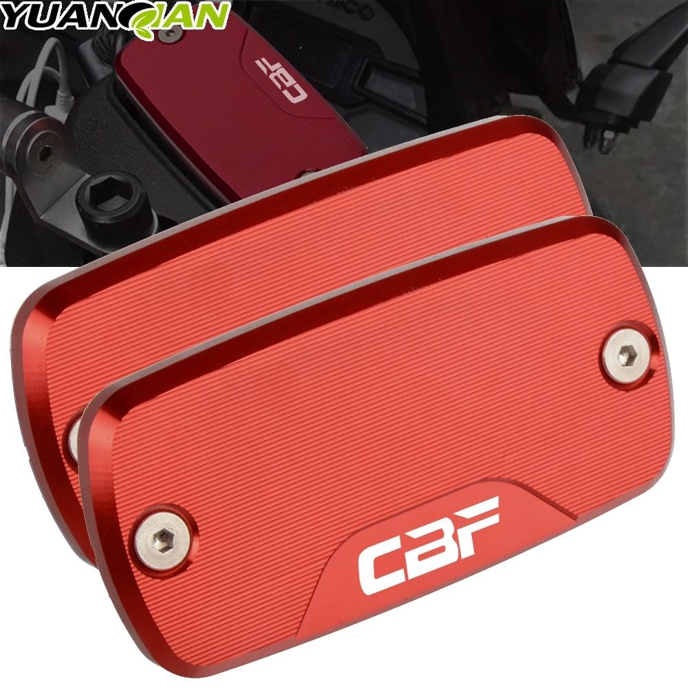 Para HONDA CBF500 CBF600 600S CBF1000 accesorios de moto rcycle parte tapa de depósito fluido moto rbike freno delantero moto CNC de aluminio de CBF