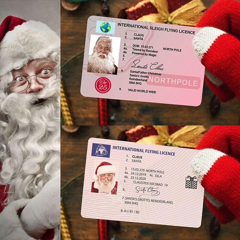 Рождественский Санта-Клаус, лицензия на полет, рождественские лицензии, рождественские подарки для детей, украшение на рождественскую елку...