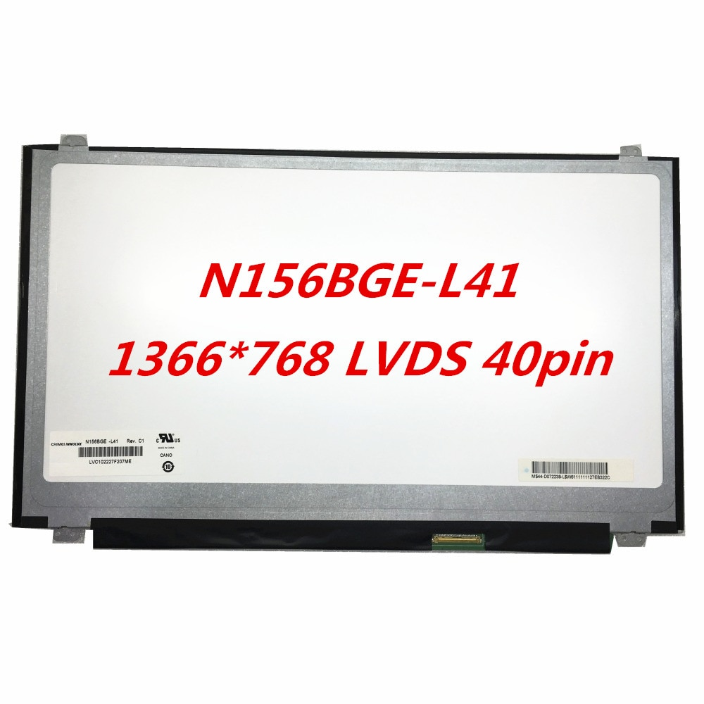 شحن مجاني N156BGE-L41 N156BGE-L31 LTN156AT30 P01 LTN156AT20 H01 W01 LP156WH3-TLSA محمول LCD شاشة 1366*768 LVDS 40pin