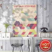sufjan stevens singer music poster 2015 the chicago theatre america solid geometry music art prints home decor wall picture