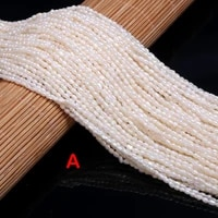 natural freshwater pearls beads rice shape punch loose beads for jewelry making diy women necklace bracelet 2 0 2 5mm