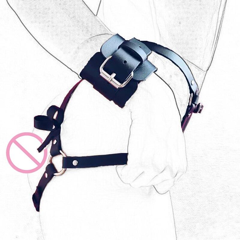 Samox Leather Garter Body Strap Harness Belt Bridal Garters Body Waist Bondage Cage Sexy Erotic Garter Belt Suspender Lingerie