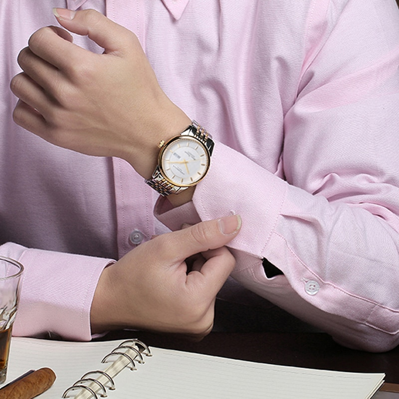 CARNIVAL Brand Luxury Gold Automatic Business Watch Man Waterproof Fashion Calendar Mechanical Wristwatch 2021 Relogio Masculino enlarge