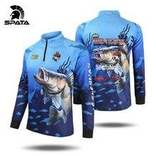 2020 New SPATA Fishing Clothing Anti-UV Summer Man Fishing Clothes protezione solare traspirante traspirante camicia da pesca ad asciugatura rapida