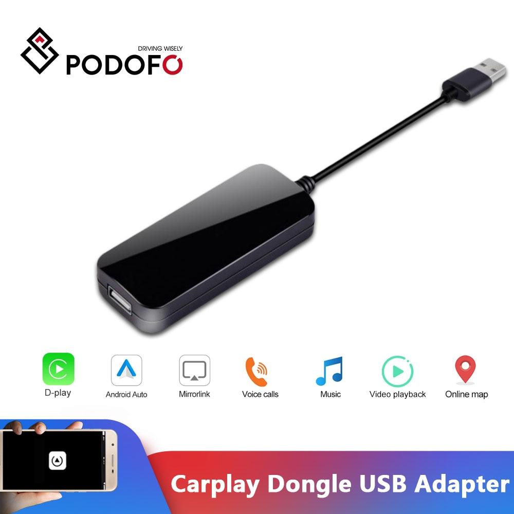 Podofo-llave electrónica Apple CarPlay/Android para coche, adaptador USB para sistema Android, enlace...