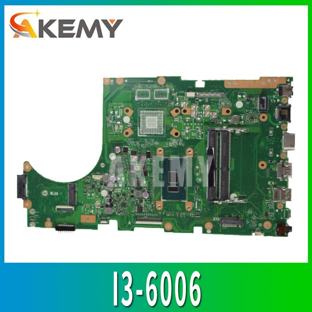 X756UA Motherboard I3-6006 DDR4 Memória slot Para ASUS X756U X756UA X756UAK X756UWK X756UX X567UW Laptop Mainboard teste OK