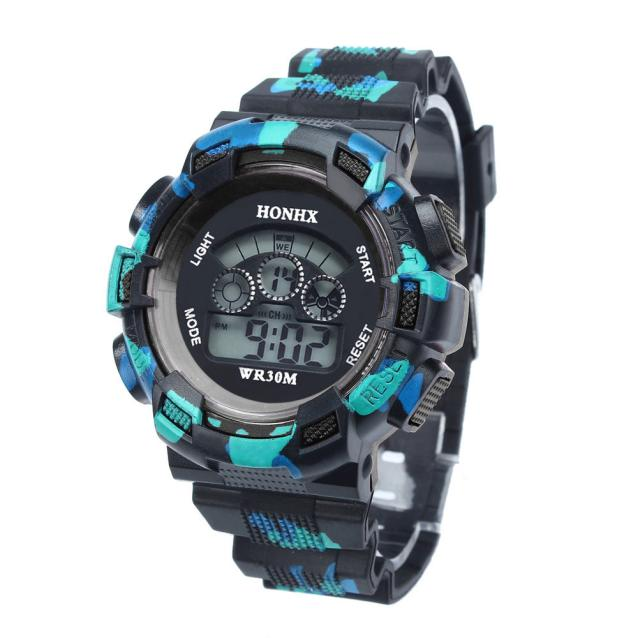 Luxury Led Alarm Cool Watches For Mens Boys Fashion Date Sports Digital Wrist Watch Black Children Electronic Watch Relogio waterproof children boys girls digital led quartz alarm date sports wrist watch new arrival freeshipping hot sales sport watches