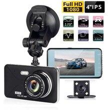 4 pouces double lentille voiture DVR vue arrière tableau de bord caméra 1080P voiture conduite enregistreur 170 ° grand Angle tableau de bord caméra WDR Auto enregistreur vidéo