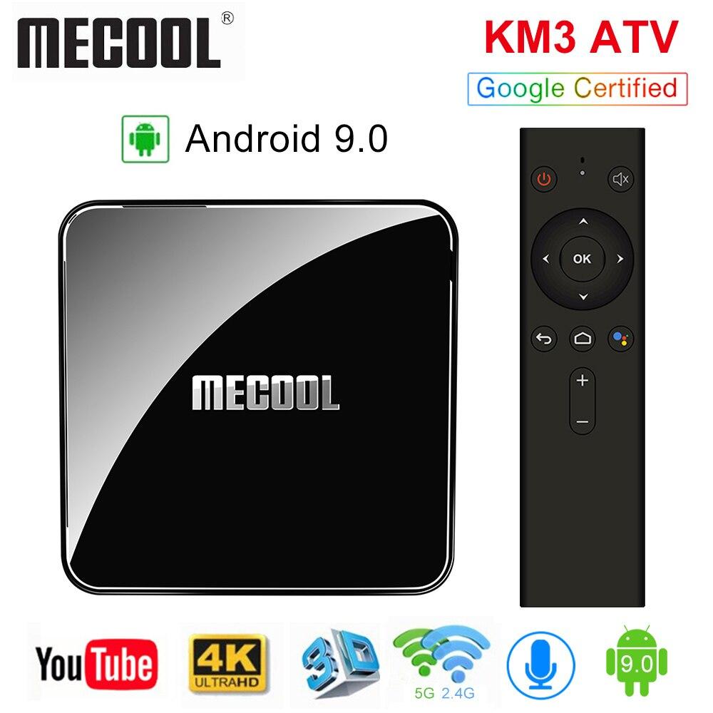ТВ-приставка MECOOL KM3 A TV, сертифицированная Google, Android 9,0, 4 ГБ, 64 ГБ, Amlogic S905X2, KM9 Pro, 4 Гб, 32 ГБ, Android TV, 4K