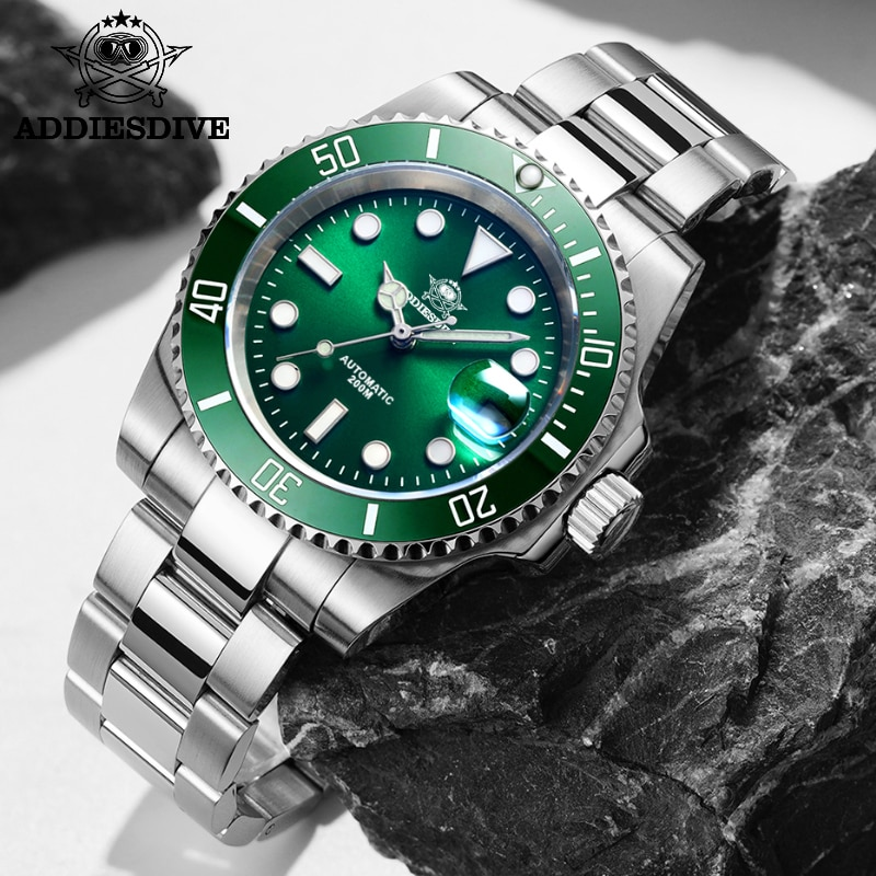 Automatic Watch Sapphire NH35 Automatic Dive Watches Men 200m Watch Men Mechanical C3 Super Luminous Watch Dive Men's watch